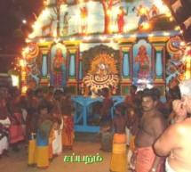 Selvasannithy festival day 14 night Sapparam