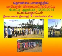 Thondaimanaru sports festivel 2014 Soccer Match one