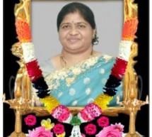 Mrs Manoranjithamalar vettivel funeral