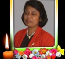 Miss Ruth Indumathy Sundaralingam Passed away
