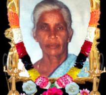 Thondaimanaru Veeramahali amman kovil Mrs Janaki amma Alagadurai (master) passed away